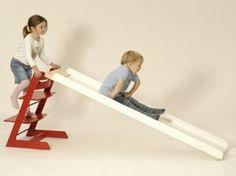 Glijbaan aan trip trap stoel