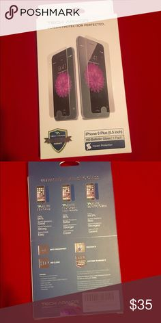 Tech Armor HD Ballistic Glass For iPhone 6 Plus Up for sale is a Brand New Tech Armor HD Ballistic Glass Screen Protector For IPhone 6 Plus only. New Never Used, Unopened Package, Contact me with any questions thanks! Tech Armor  Other
