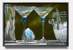 "Steve Mills ""Martini Alfresco"" - incredible photorealist painter"