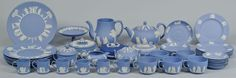 Group of Wedgwood England Jasperware, 44 pcs: Lot 567. This lot was sold for $300 at our May 18, 2013 auction.