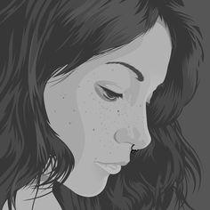 Paqui (Vector portrait) on Behance