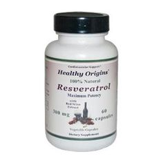 Healthy Origins Natural Resveratrol - 300 mg - 60 Vegetarian Cap Resveratrol is an active polyphenol found primarily in grapes and has been found to have potent antioxidant activity. Resveratrol, combined with other polyphenols may provide protective support to the cardiovascular system and is known for its anti-aging effects.