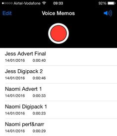 Development & Feedback: We used the voice memos on iPhone to record our feedback and therefore develop our products further. We then put the feedback from our phones onto the computer to upload and analyse the feedback so we could improve our work.