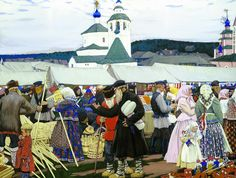 Изображение со страницы http://uploads2.wikiart.org/images/boris-kustodiev/at-the-fair-1906.jpg.