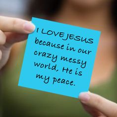 Peace in the crazy mess