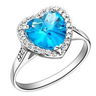 Vintage Style Sliver Blue With Cubic Zirconia Heart Cut Women's Ring(1 Pc). Get awesome discounts up to 80% Off at Light in the Box using Coupons.