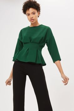 Tuck Seam 3/4 Sleeve Blouse - New In Fashion - New In - Topshop Europe