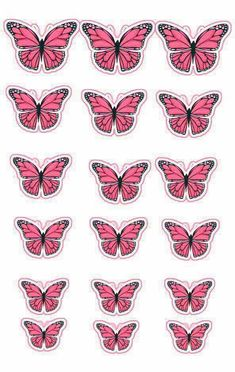 8 Rose Pink Butterflies Butterfly Picture Frame Home Wall Wedding Decorations 25th Birthday Cakes, Birthday Cake Toppers, Wedding Cake Toppers, Cupcake Toppers, Butterfly Cupcakes, Butterfly Party, Pink Butterfly, Butterflies, Cake Pink
