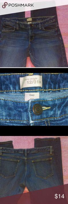 Gap curvy fit stretch straight leg jeans Excellent Condition! GAP Jeans Straight Leg
