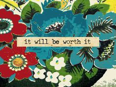 it will be...