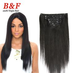 100g/set clip in hair extensions 7pcs/set clip in human hair extension remy african american clip in human hair extensions US $30.50