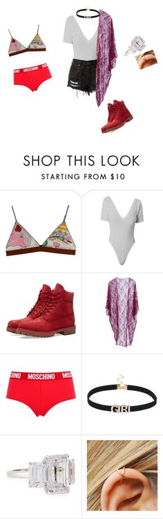 """Take me down"" by chou-chouchou ❤ liked on Polyvore featuring LoveStories, Timberland, Roses Are Red, Moschino and Fantasia by DeSerio"
