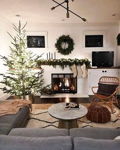 Hope your chestnuts are roasty and your holly is jolly! If not, head on down to your local west elm store and pick up those last-minute essentials! Christmas Time Is Here, Noel Christmas, Xmas, Minimal Christmas, Simple Christmas, White Christmas, Minimalist Christmas Tree, Modern Christmas, Cozy Room