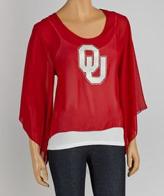 Look at this #zulilyfind! Oklahoma Sooners Cape-Sleeve Top - Women by Gameday Couture #zulilyfinds