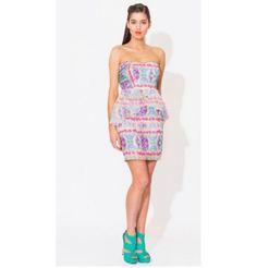Paddle Pop Peplum Dress - Blue Juice