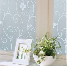 Floral Glass Privacy Window Film Self Static Adhesive Cling - Window decals for home privacy