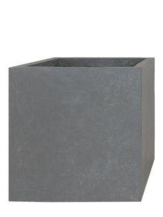 Fiberglas Blumentopf Kubel Cube 38x44x44cm Beton Grau In 2020 Pflanzwerk Pflanzkubel Pflanzen