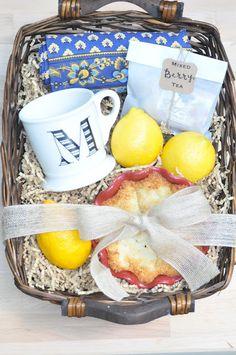 teacher gift idea. basket of goods.