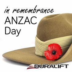 At the going down of the sun and in the morning, we shall remember them. Lest we forget. #Duralift #AnzacDay