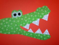 Fabric Applique TEMPLATE ONLY SNAP The Alligator.