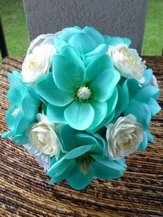 Teal Wedding Bouquet @ Wedding Ideas