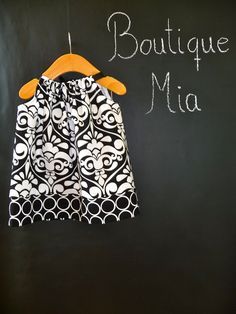 Pillowcase DRESS - Michael Miller - Damask - 2 Years of Fashion - Pick the size Newborn up to 12 Years - by Boutique Mia. $30.00, via Etsy.