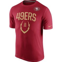 Men s San Francisco 49ers Nike Scarlet Legend Icon Performance T-Shirt d317b7c95
