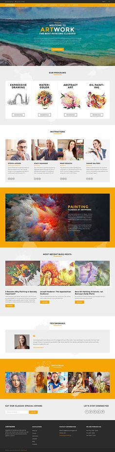Painting Classes & Academy #Wordpress #template. #themes #business…