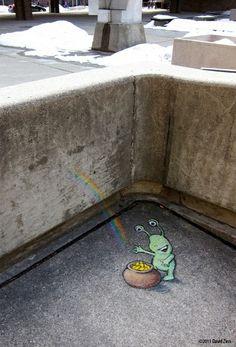david+zinn+sidewalk+art | Art - Sidewalk & Street Art / Chalk Art by David Zinn