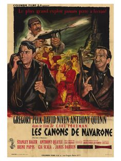 The Guns of Navarone, French Movie Poster, 1961 Art Print at AllPosters.com