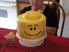 The Sew*er, The Caker, The CopyCat Maker: Lego Head Cake