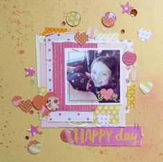 #scrapbook layout created with the #epiphanycrafts Shape Studio Tools.