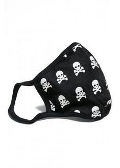 The Skull Face Mask from Urban Classics is a white skull and crossbones printed protective mask. The alternative mask has ear loops, and a slip pocket for filters.  #Skull #Gothic #PPE #FaceMask Skull Face Mask, Diy Face Mask, Crane, Steampunk Goggles, Protective Mask, Skull And Crossbones, Fashion Face Mask, Unisex, Face Shapes