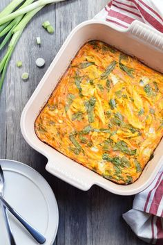 This buffalo chicken breakfast casserole is insanely easy to make, and it's the best breakfast for busy mornings, or a quick snack to go. The leftovers are