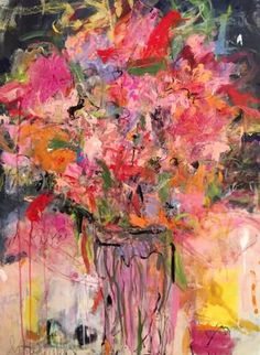 """Sandy Welch's expressive """"Flowers from Matisse"""" makes a bright addition to any art lover's collection #GiftsforHer"""