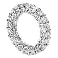 14k White Gold Round Diamond Braided Prongs Eternity Wedding Ring (4.00-4.50 CT TDW) $4,499.00