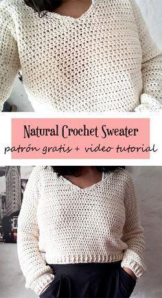 Crochet Crop Top, Crochet Cardigan, Love Crochet, Diy Crochet, Patron Crochet, Crochet Winter, Crochet Books, Diy Clothing, Crochet Clothes