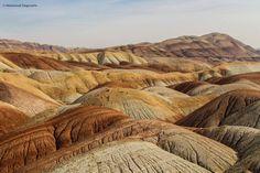 تپه های رنگین کمانی - کویر اشتهارد