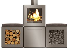 Philippe Starck designs modular Speetbox wood-burning stove