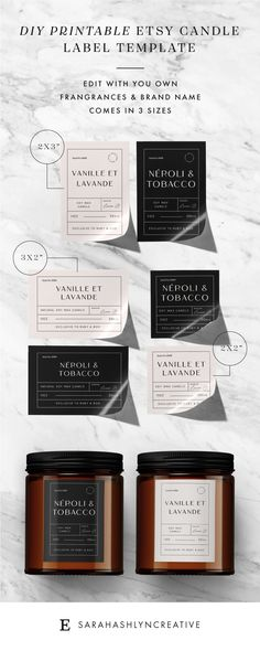 Take your candle products to the next level with these vintage Apothecary Style editable candle label designs. No need for photoshop, simply follow the instructions and edit using the provided link. These vintage style apothecary candle labels are the perfect way to get that chic look! Personalized Candles, Personalized Labels, Custom Labels, Candle Labels, Label Paper, Label Templates, Printable Labels, Printing Labels, Product Label