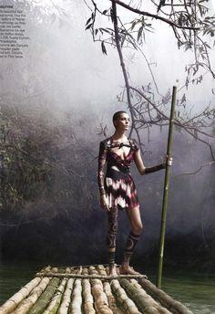 The Warrior Way   Alexander the Great   American Vogue - March 2010  Photographer - David Sims  Fashion Editor - Grace Coddington