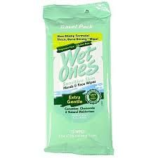 Wet Ones Sensitive Skin Hands and Face Wipes -(Fragrance Free)- 15 cleansing wipes for hand and face in a resealable travel size pack Purse Essentials, Natural Moisturizer, Wet Wipe, Alcohol Free, Travel Size Products, Sensitive Skin, Personal Care, Face, Health