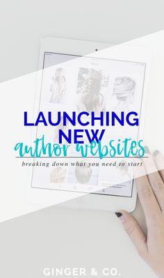 Launching New Author Websites