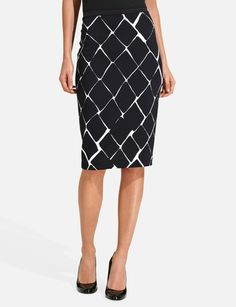 High Waist Pegged Pencil Skirt from THELIMITED.com $30