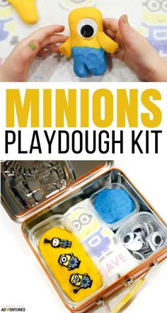 Super Simple Minion Playdough Kit in celebration of the new Despicable Me 3 Movie. Perfect for a Minions Party Activities For Autistic Children, Fun Activities For Kids, Infant Activities, Playdough Activities, Book Activities, Minion Theme, Minion Party, Sensory Tools, Sensory Play