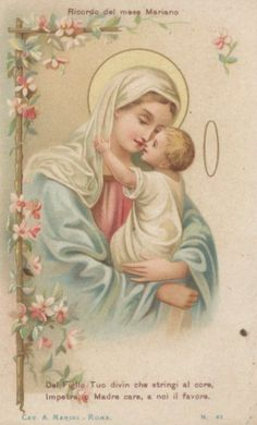 Estampas antiguas: diciembre 2012 Blessed Mother Mary, Divine Mother, Blessed Virgin Mary, Catholic Art, Catholic Saints, Religious Art, Vintage Holy Cards, Jesus Faith, Mama Mary