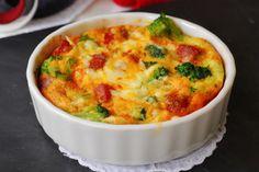 Cazuelitas de brócoli con chorizo. | Cuchillito y Tenedor