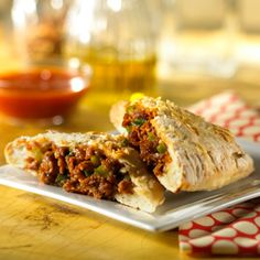 Easy Calzones  Family-pleasing calzones are a snap-to-make when you start with refrigerated pizza dough, MorningStar Farms® Recipe Crumbles™ and purchased pizza sauce. Double this recipe when you expect a crowd.