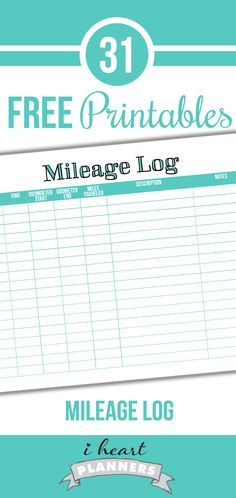 Free mileage tracker printable - great for those of you with a direct sales business or for bloggers who travel