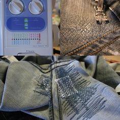 Jeans im schritt flicken: unsichtbares Flicken von Jeans